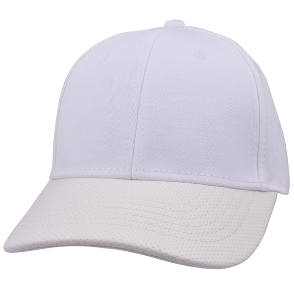 Carbon212 Leather Look Curved Visor Baseball Cap
