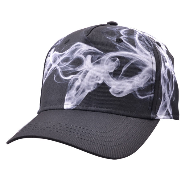 Carbon212 Smoke Print Curved Visor Baseball Caps - Black