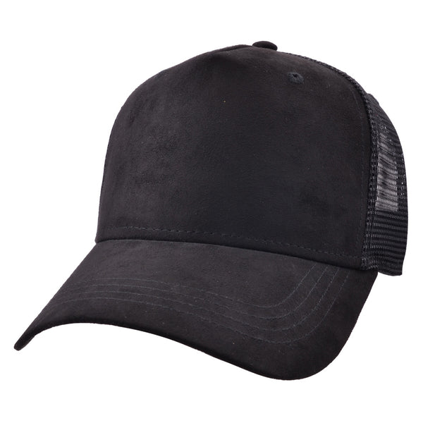 Carbon212 Faux Suede Mesh Curved Visor Baseball Cap