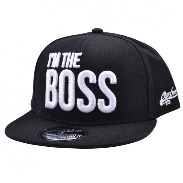 Carbon212 I'm The Boss Kids Snapback Cap - Black
