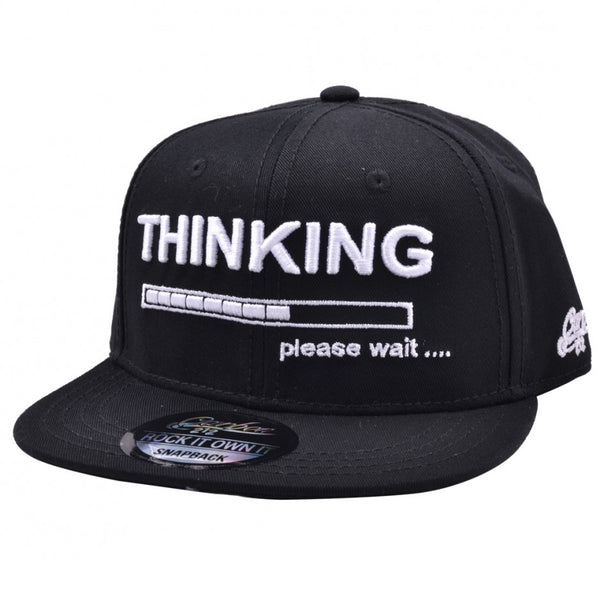 Carbon212 Thinking Kids Snapback Cap - Black