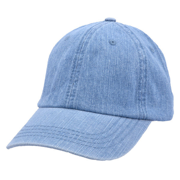Carbon212 Denim Curved Visor Baseball Caps