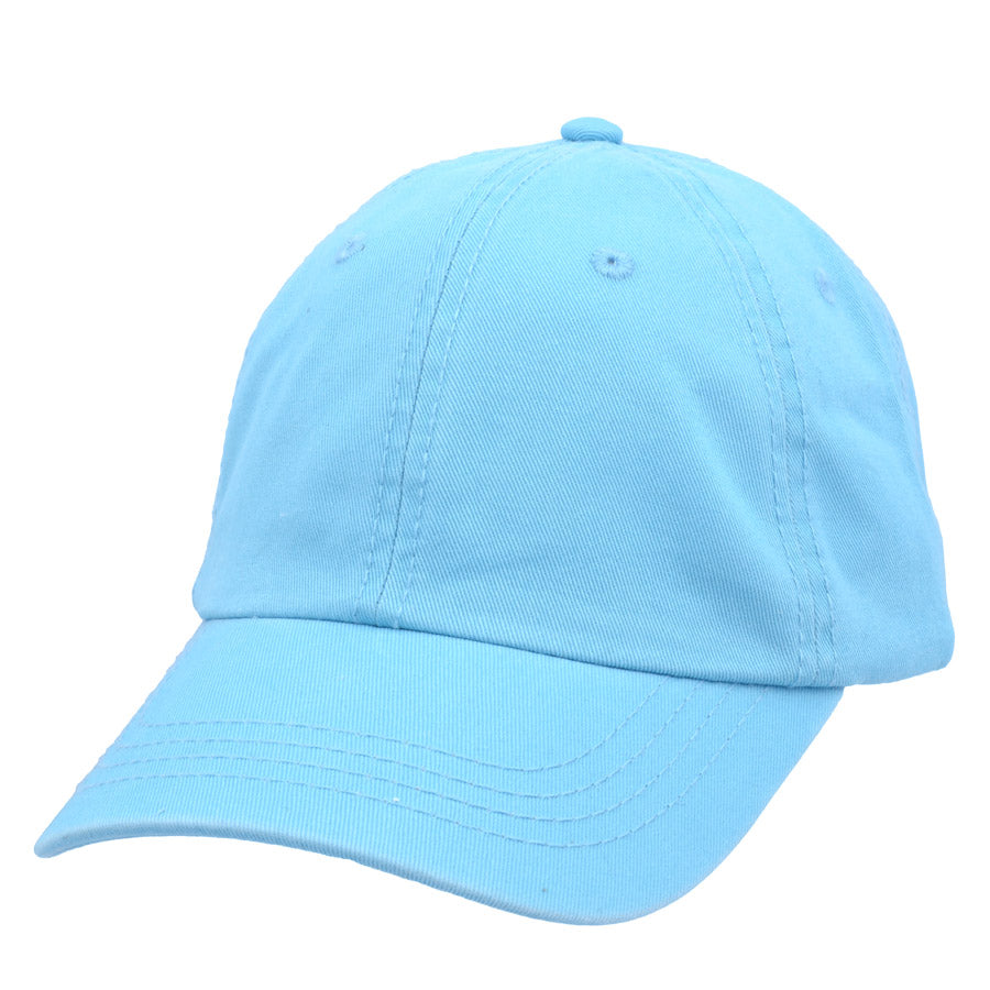 Carbon212 Curved Visor Baseball Caps - Light-Blue