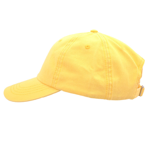 Carbon212 Curved Visor Baseball Caps - Yellow