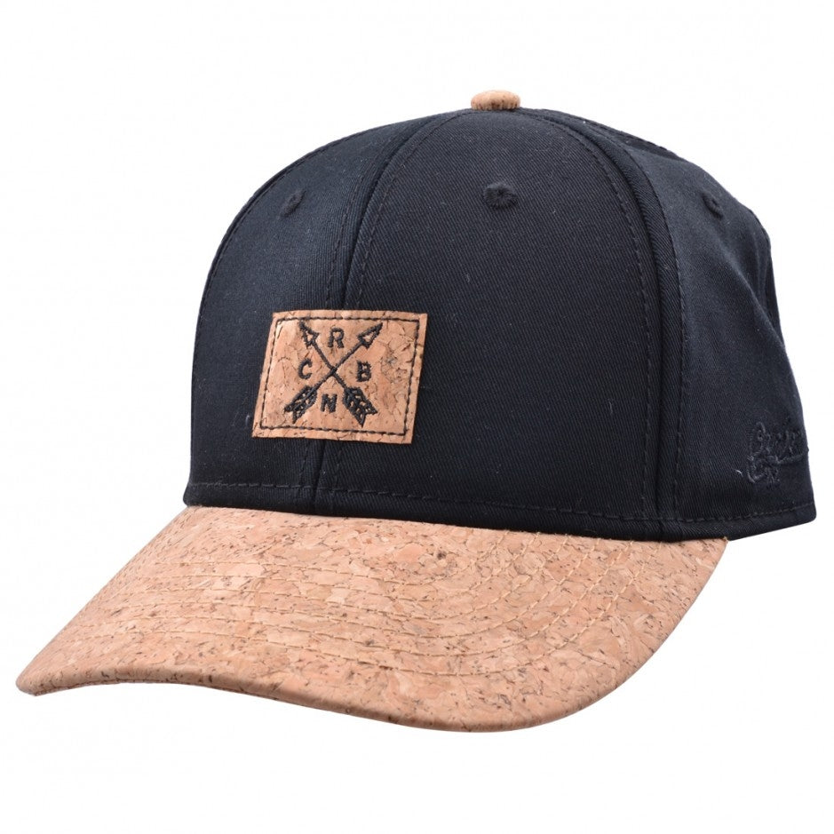 Carbon212 Cork Curved Visor Baseball Cap - Black