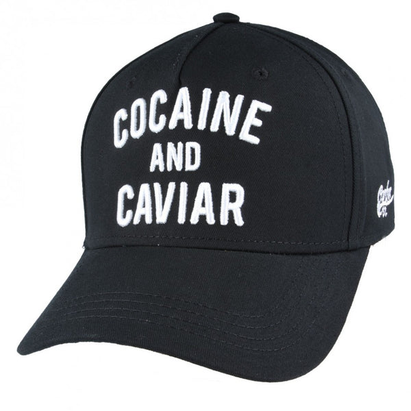 Carbon212 Cocaine & Caviar Baseball Caps - Black
