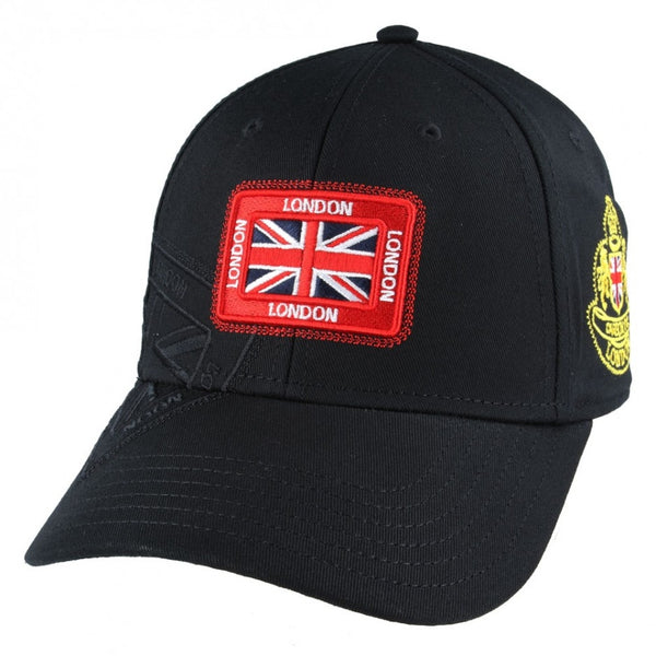 Carbon212 London Union Jack Patch Baseball Cap