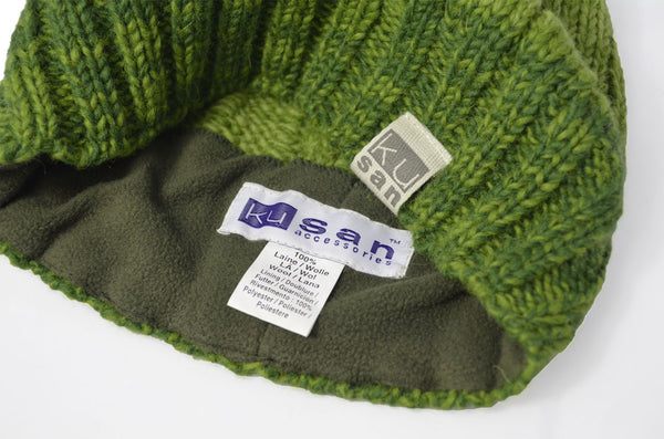 KuSan Winter Stitch Floopy Beret Hat - Green