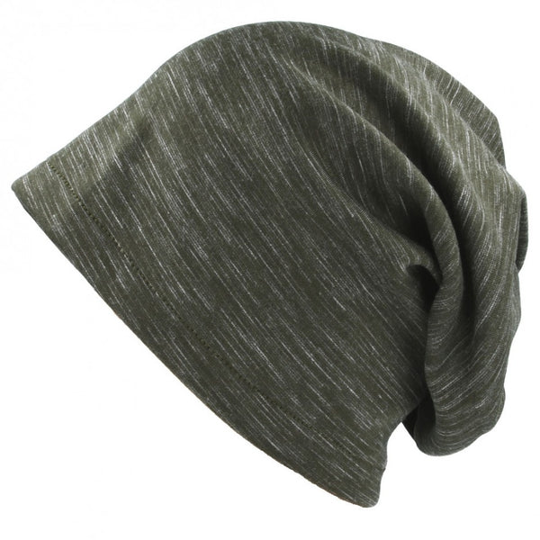 Carbon212 Stripes Melange Cotton Long Beanies