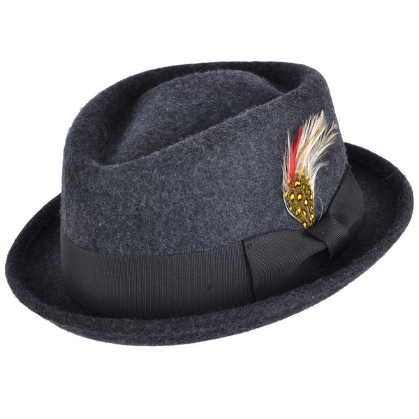 Maz Wool Diamond Crown Pork Pie Hat
