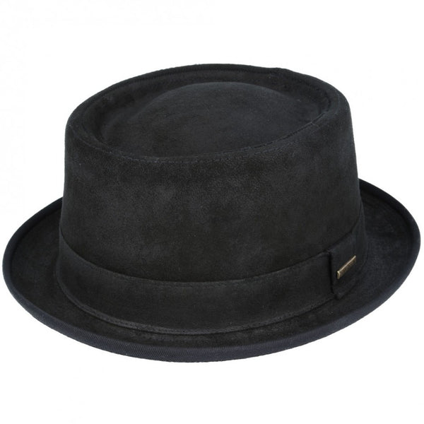 Gladwin Bond Vintage Leather Pork Pie Hat - Brown