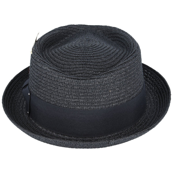 Maz Diamond Crown paper straw Hat - Black