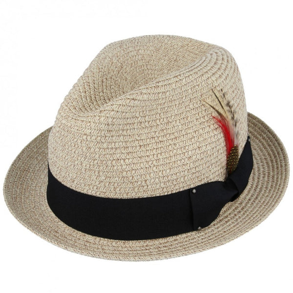 Maz Paper Straw C Crown Trilby Hat
