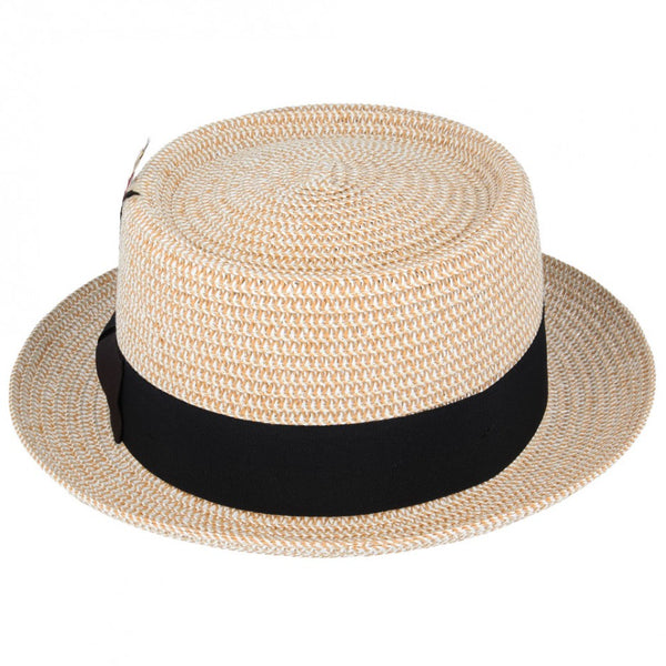 Maz Paper Straw Pork Pie Hat - Natural