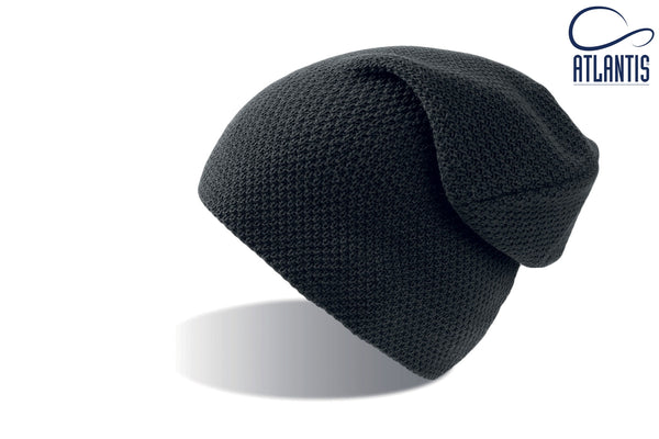 Atlantis Snobby Soft Beanie Hat - Black