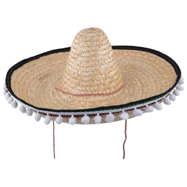 Mexican Sombrero Deluxe Straw Gringo Hats For Costume Fancy Dress Party