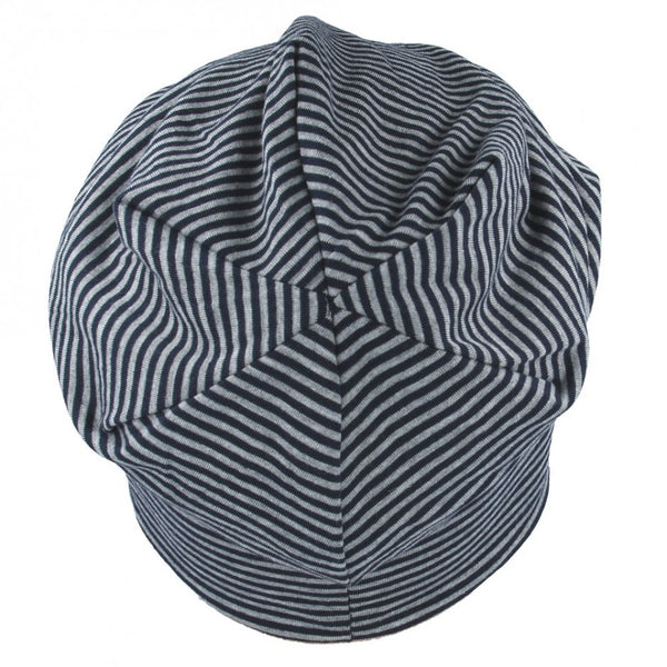 Carbon212 Stripe Soft Cotton Long Beanie