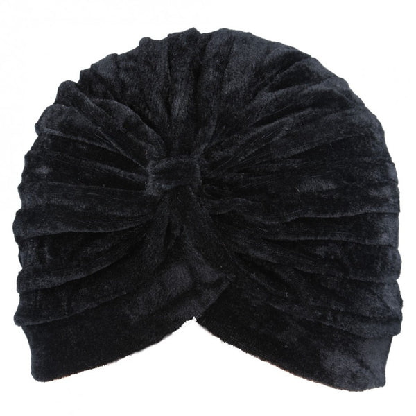 Maz Trendy Velvet Stretchy Turban Hat