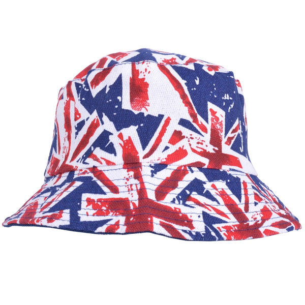 Union Jack Bucket Hat Reversible and Packable