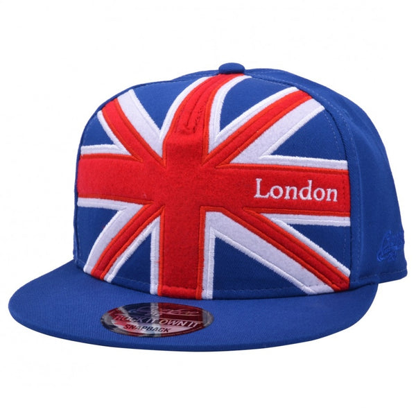 Carbon212 Union Jack Kids Snapback Cap - Blue