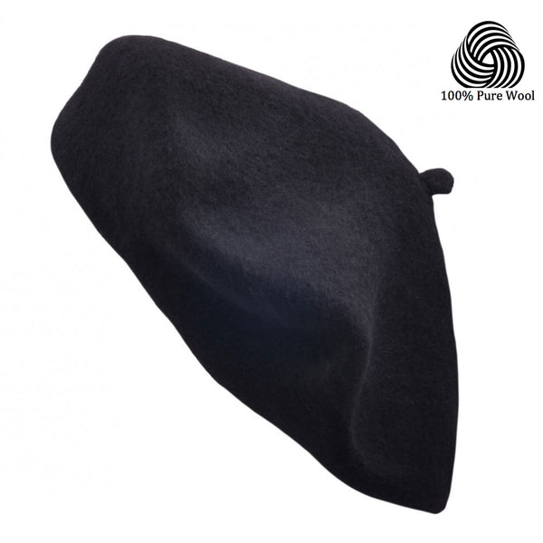 Maz 100% Pure Wool Fashion Beret