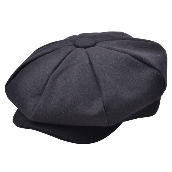Maz Wool Big Apple Cap - Black-Navy-GreyCharcoal