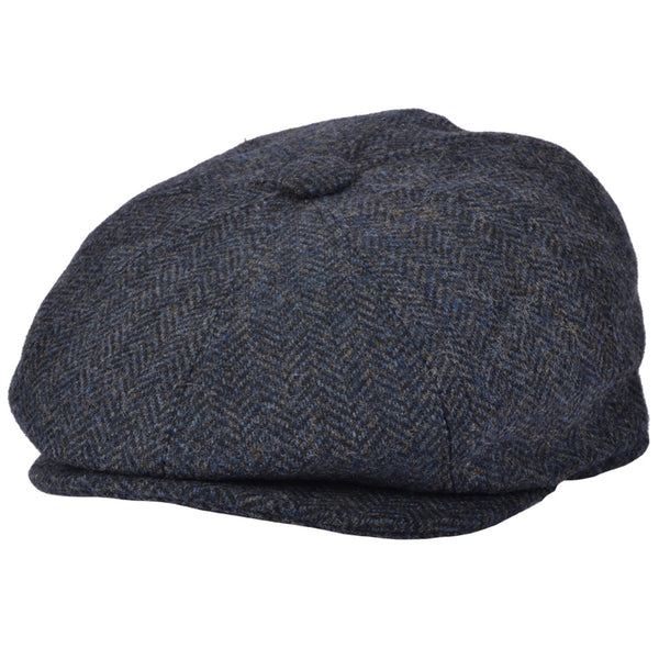 G&H 100% Wool Herringbone 8 Panel Newsboy Caps