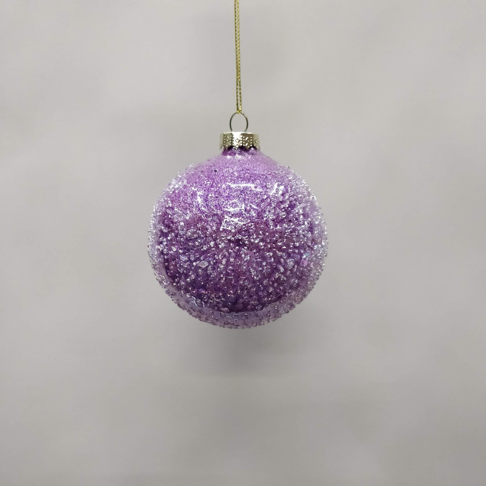 Purple Frosted Bauble