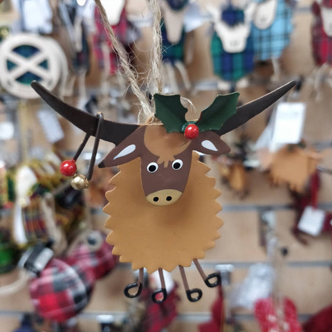 Festive Highland Cow Piper by Shoeless Joe