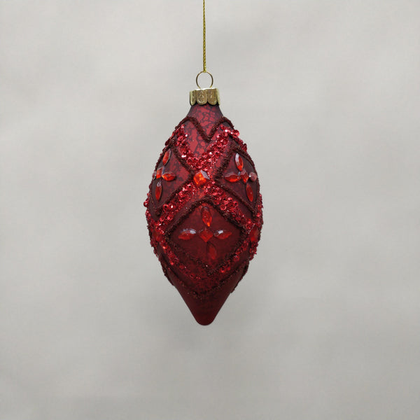Red Yolanda Finial Bauble