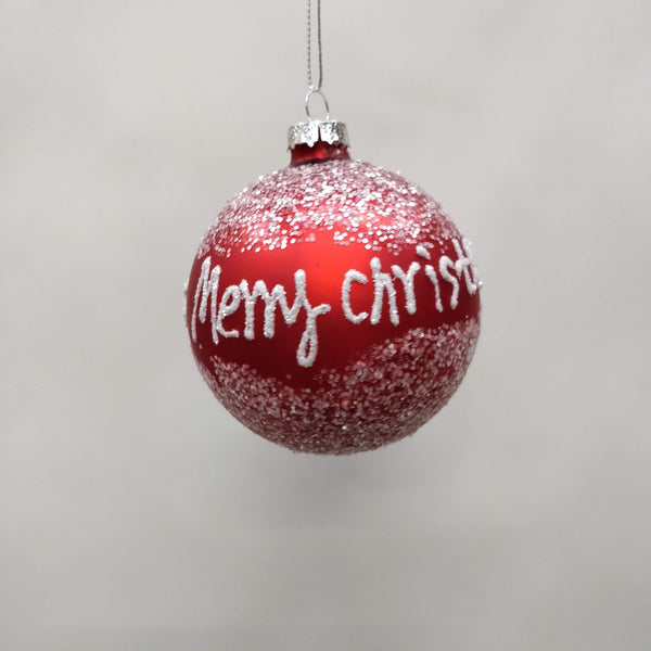 "Red ""Merry Christmas"" Bauble"