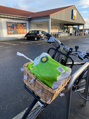 Bike Delivery of tinned meat