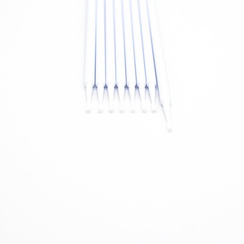 Micro brushes for eyelash extension application.