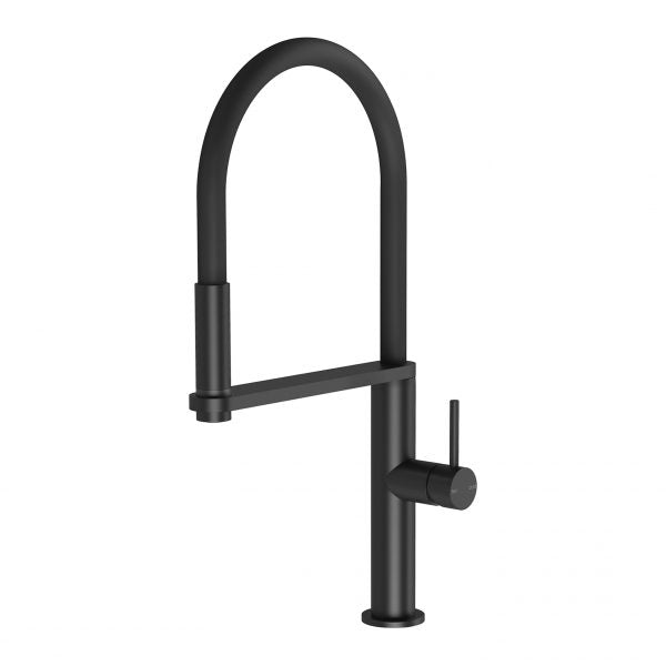 Phoenix Blix Flexible Hose Sink Mixer Matte Black 10473100MB