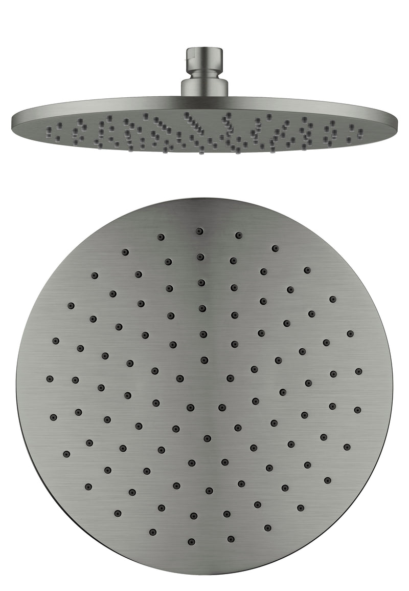 Nero 250mm Round Shower Rose Gun Metal NRROA1001GM