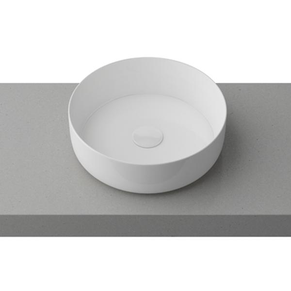Timberline Allure Above Counter Ceramic Basin Matte White BAS36AL-WM