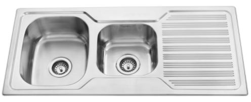 BUK Left Hand 1 & 1/2 Bowl Sink with Drainer BK108.1LS