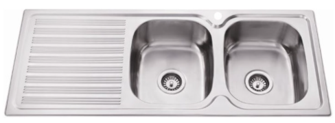 BUK Right Hand Double Bowl Sink with Drainer BK118.1RS