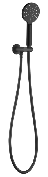 BUK Round Hand Shower on Bracket Matte Black BKS101-B