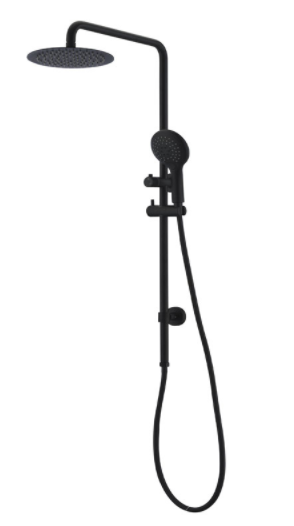 BUK Round Twin Shower Matte Black BKSR203-B