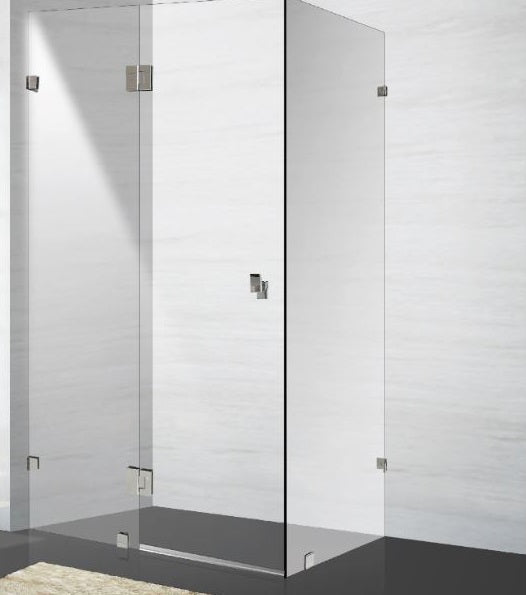 1000 x 1000 x 2000MM Frameless Complete Shower Screen