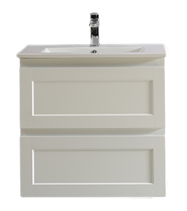 Fremantle PVC 600 X 460MM Wall Hung All-Drawer Vanity Matte White