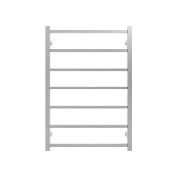Forme Ideal 7 Bar Square Heated Towel Rail Brushed Stainless Steel HTR-TS0701MBR