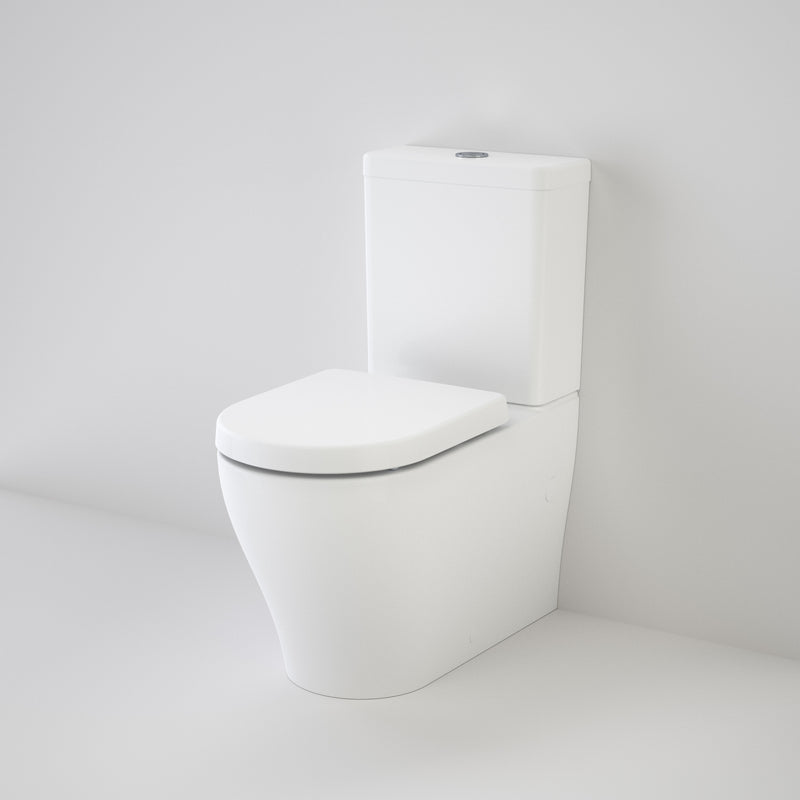 Caroma Luna Cleanflush Back to Wall Toilet Suite, Back Entry 844820W