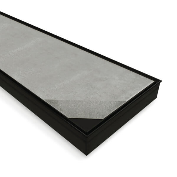 Forme 316 Stainless Steel Tile Insert Floor Waste Matte Black FDTILEBS