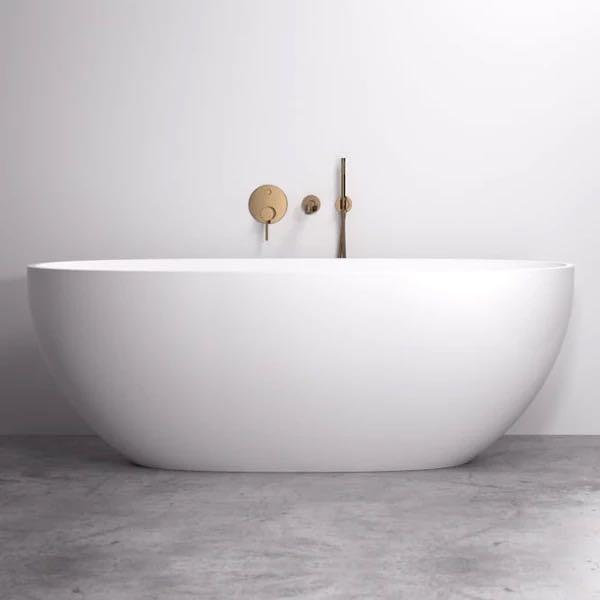 Cassa Design Egg 1400mm Freestanding Bath Matte White BT-EL1400M