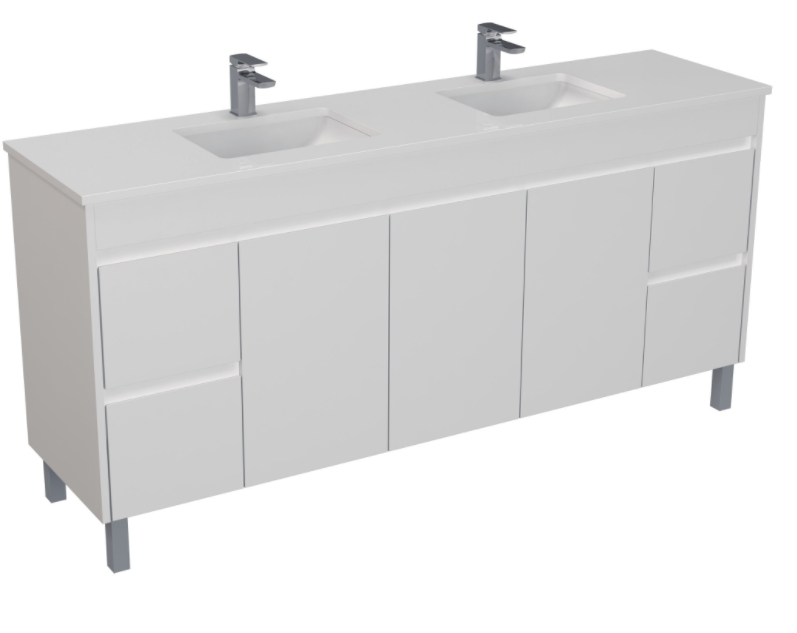 PVC 1800 X 460MM Double Bowl Floor Standing Vanity