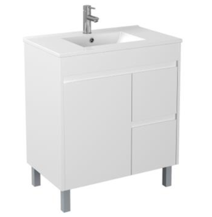 PVC 750 X 460MM Floor Standing Vanity Right Hand Drawers