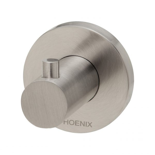 Phoenix Radii Robe Hook Round Plate Brushed Nickel RA897 BN