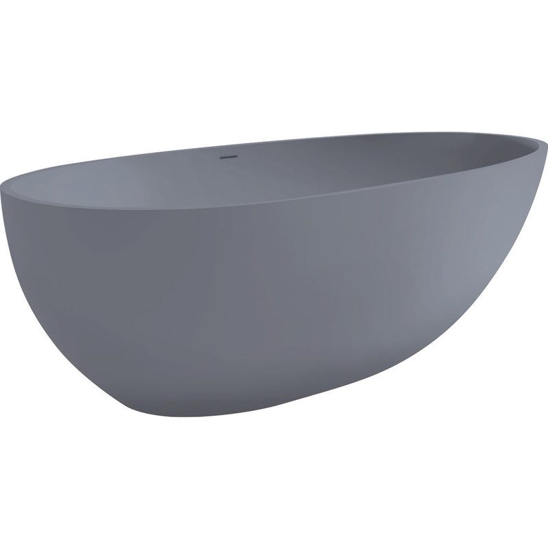 Fienza 1700 Freestanding Matte Grey Stone Bath ST03-Grey